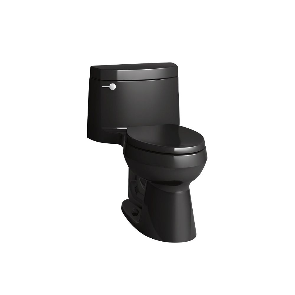 KOHLER Cimarron 1-Piece 1.28 Gpf Elongated Toilet In Black Black