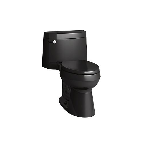 Cimarron 1-Piece 1.28 Gpf Elongated Toilet In Black Black