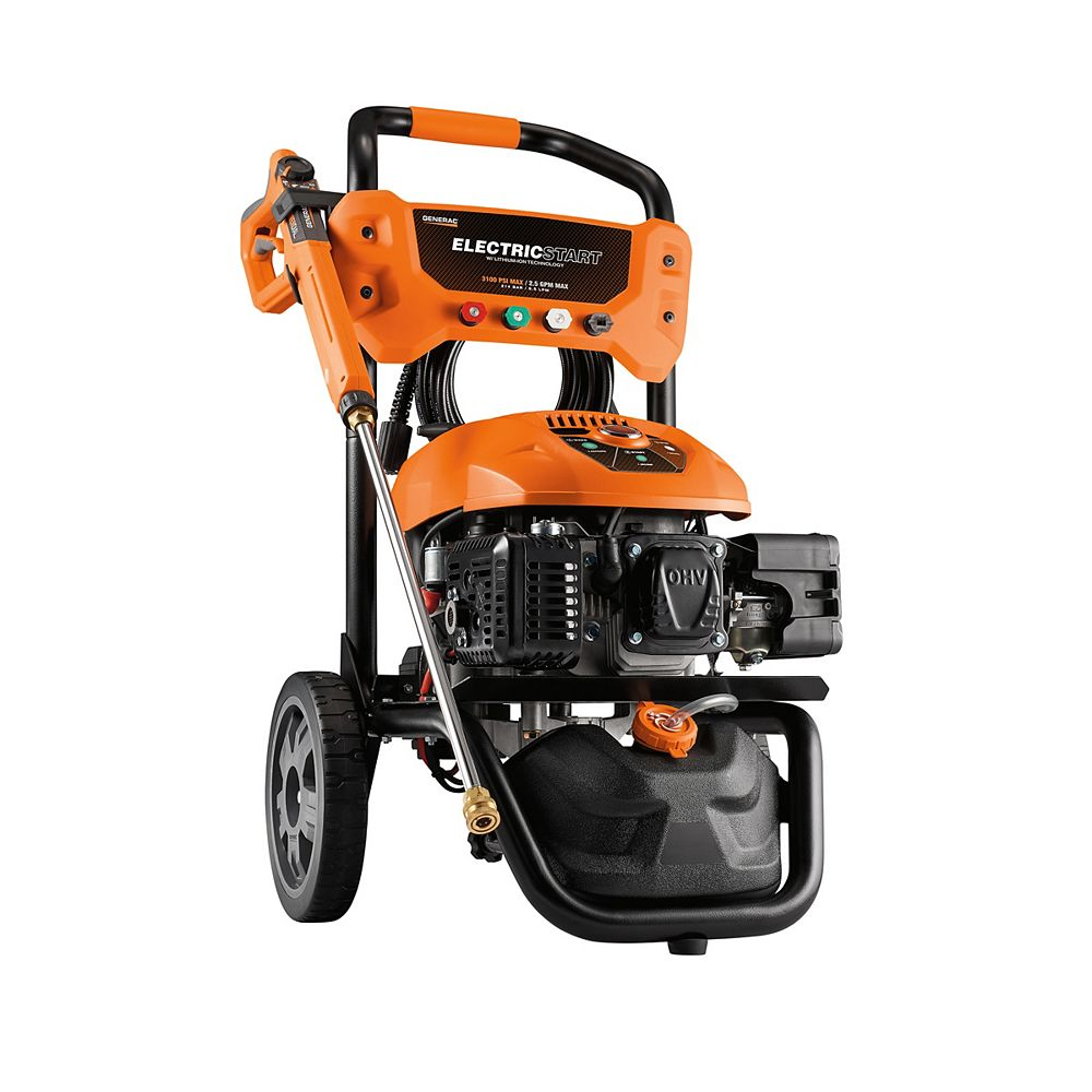 Generac 3100 PSI 2.5 GPM Electric Start Residential Pressure Washer