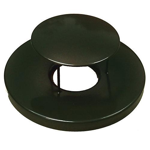 Black Steel Lid with Rain Guard Dome