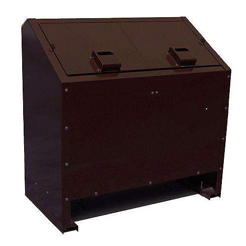 Contenant à déchets en métal résistant aux animaux de 68 gallons, brun