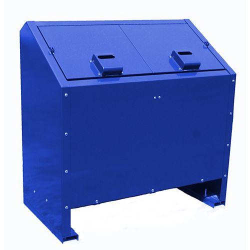 Contenant à déchets en métal résistant aux animaux de 68 gallons, bleu