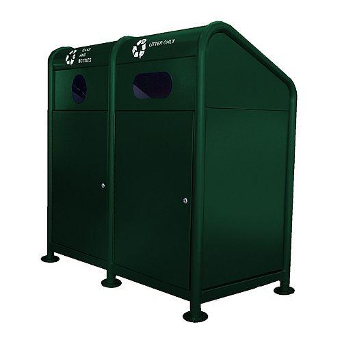 Station de recyclage en acier 68 gallons, vert
