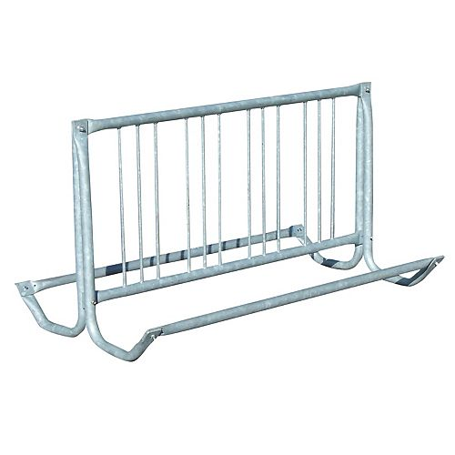 64 inch Silver Galvanized Traditional Bicycle Rack