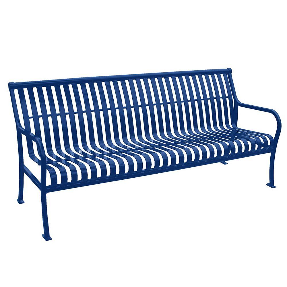 Paris 6 ft. Blue Premier Bench