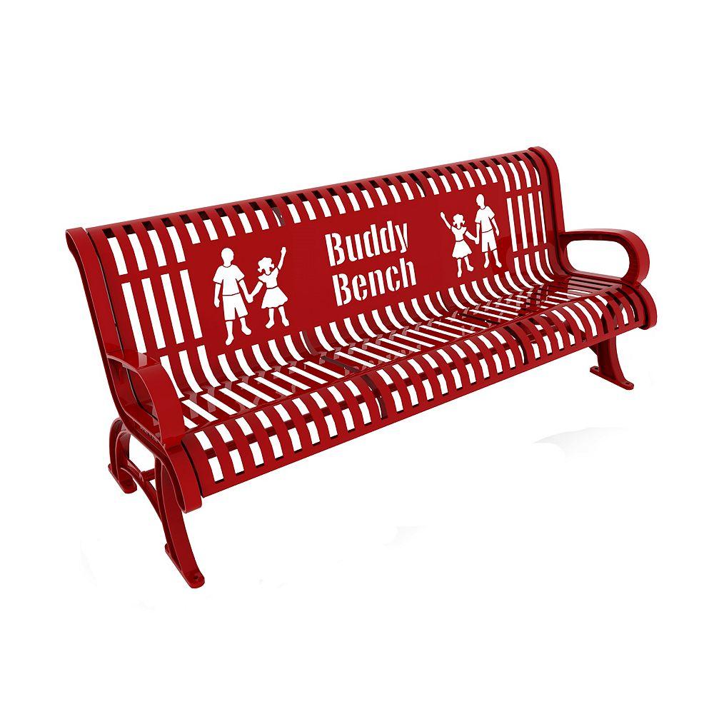 Paris 6 ft. Red Premium Buddy Bench