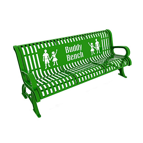 6 ft. Bright Green Premium Buddy Bench