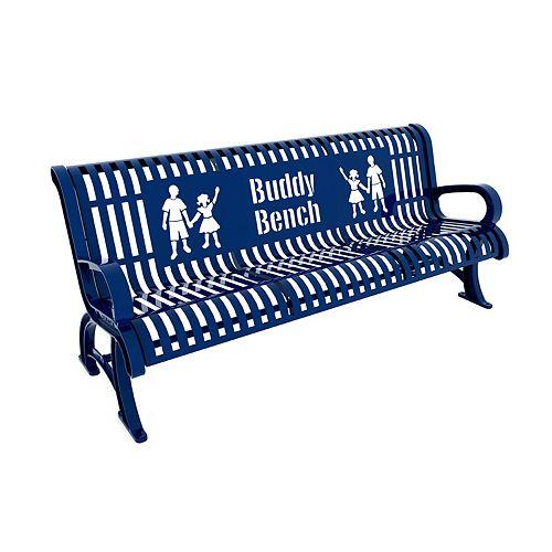 Banc Buddy de première qualité 6 pieds, bleu