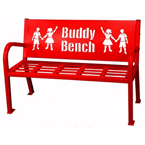 Banc Buddy 4 pieds, rouge