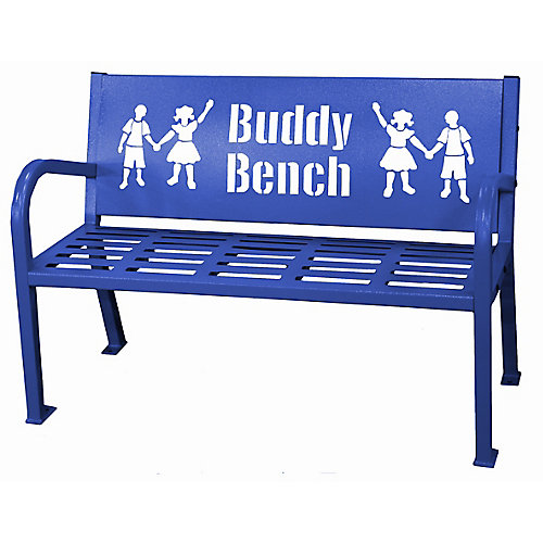 4 ft. Blue Buddy Bench