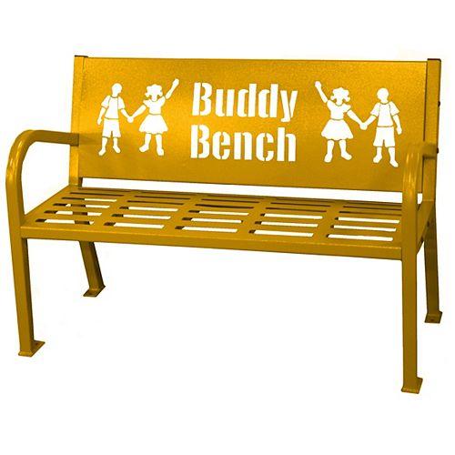 Paris 4 ft. Yellow Buddy Bench