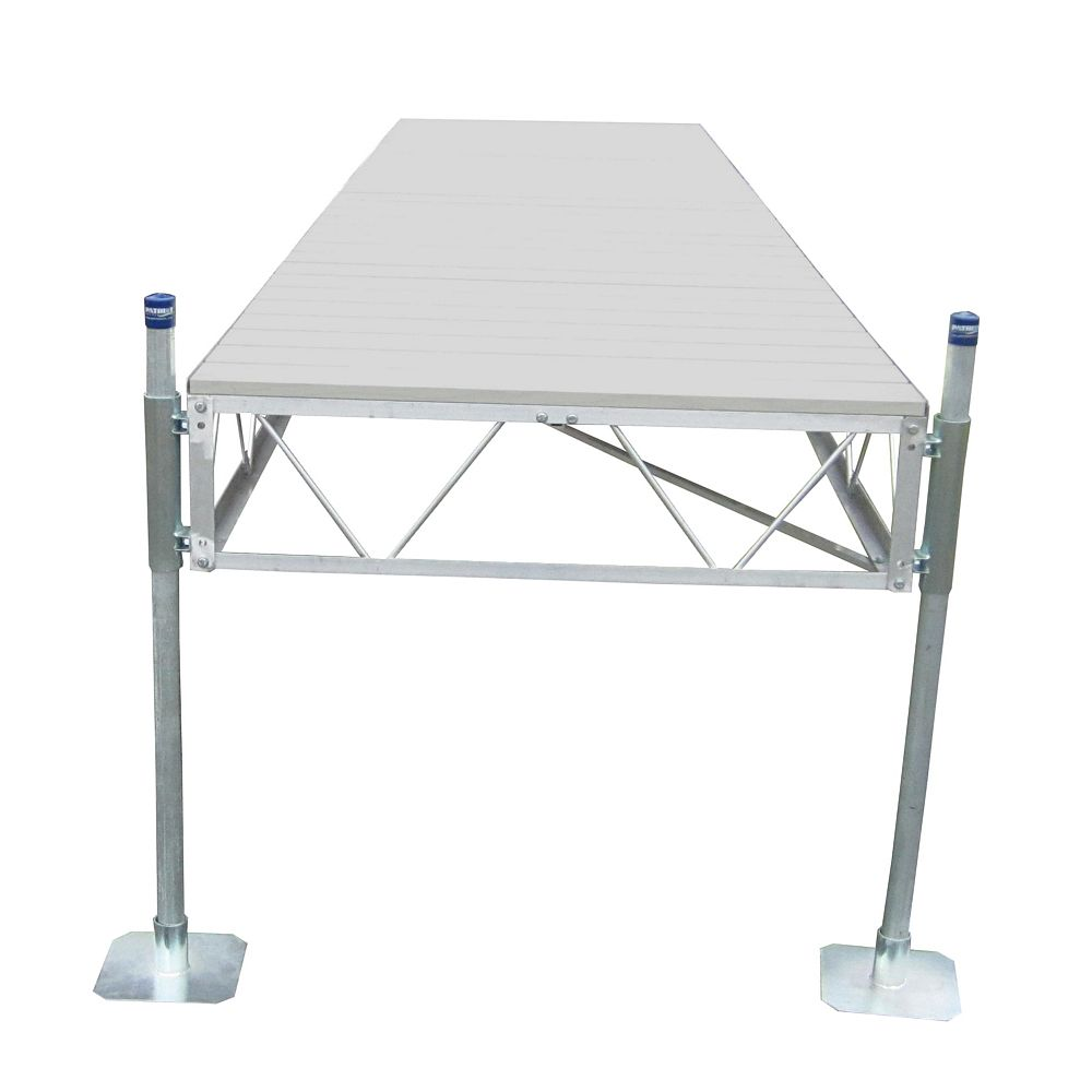 Patriot Docks 40 ft. Straight Dock with Gray Aluminum Decking