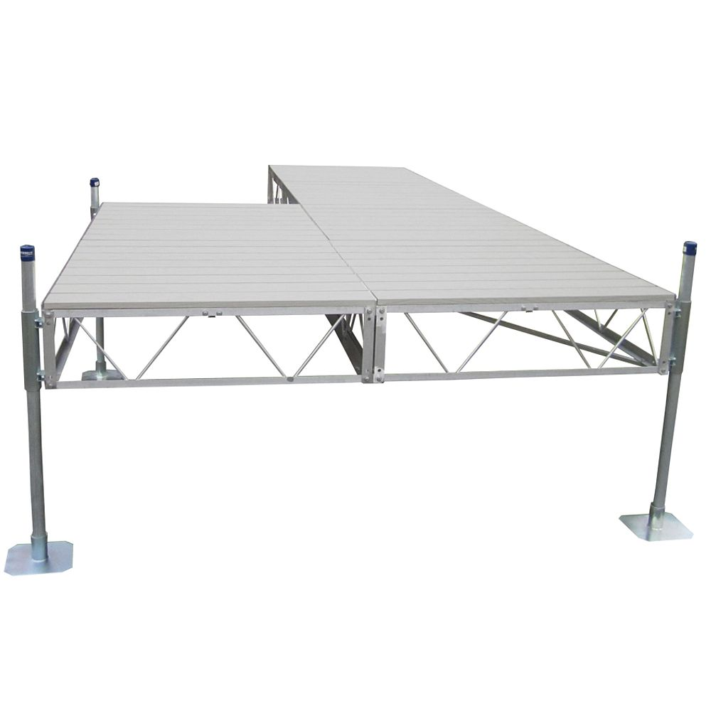 Patriot Docks 16 ft. Patio Dock with Gray Aluminum Decking