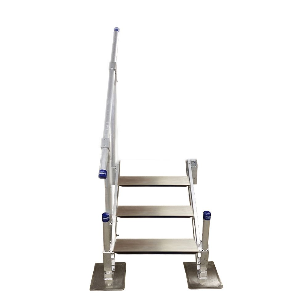 Patriot Docks 3-Step Aluminum Stairs with Handrail