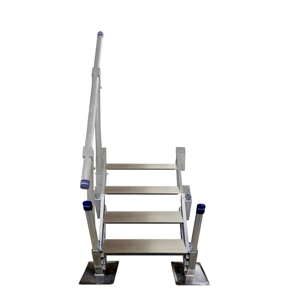 Patriot Docks 4-Step Aluminum Stairs with Handrail