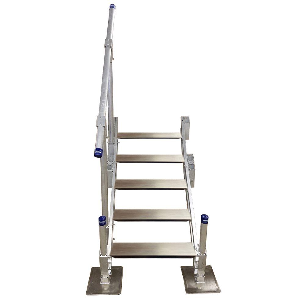 Patriot Docks Escalier en aluminium à cinqmarches avec rampe