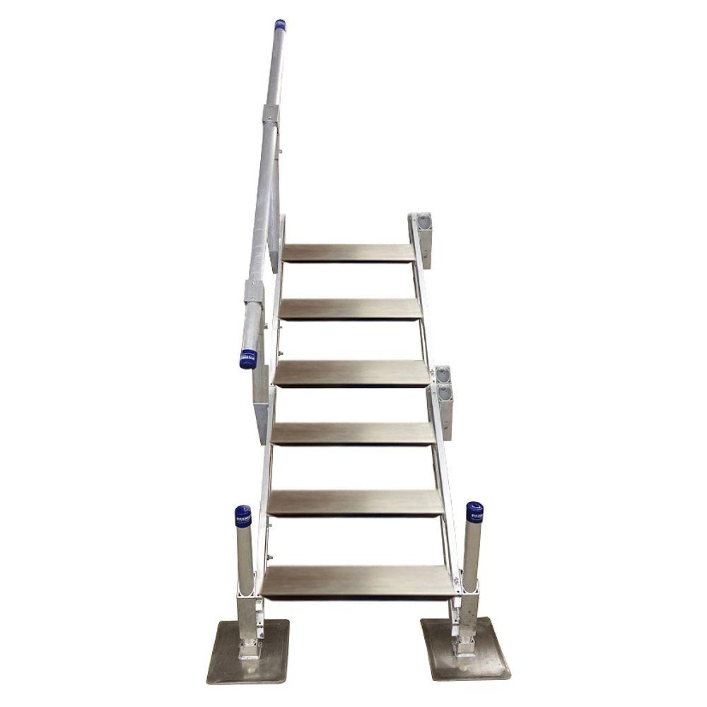 Patriot Docks Escalier en aluminium à sixmarches avec rampe