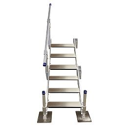 6-Step Aluminum Stairs with Handrail