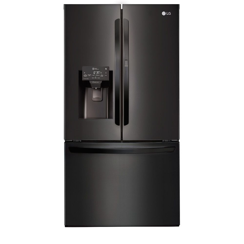 LG Electronics 36-inch W 28 cu. ft. French Door Refrigerator with with Door-in-Door® in Matte Black Stainless Steel - ENERGY STAR®