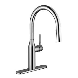 Upson Single Handle Pull-Down Kitchen Faucet in Chrome