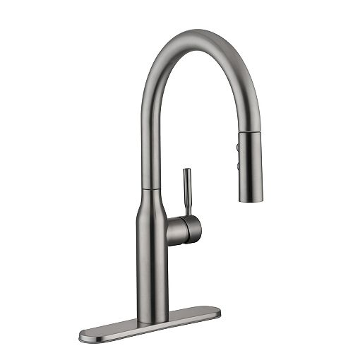Glacier Bay Upson Single Handle Pull-Down Kitchen Faucet in Stainless Steel