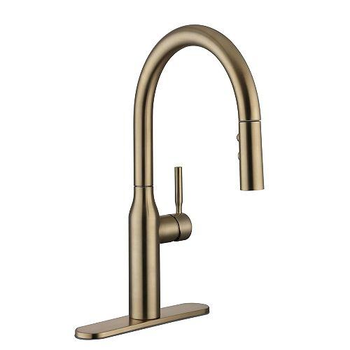Glacier Bay Upson Single Handle Pull-Down Kitchen Faucet in Gold