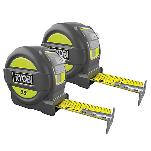 25 ft. Tape Measure with Nylon Coated Blade (2 Pack)