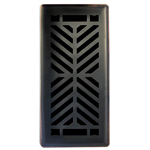 4 inch. x10 inch.  Quiver Dance Oil Rubbed Bronze Floor Register Single