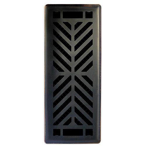 Hampton Bay Grille de ventilation unique en bronze huilé Quiver Dance 3po x 10po
