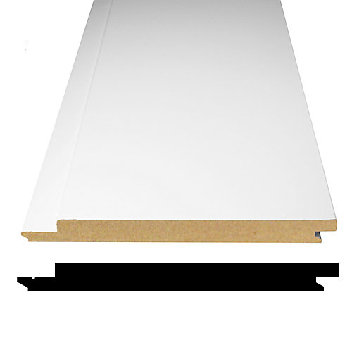 1/2-inch x 5 5/16-inch x 96-inch Primed Fibreboard Shiplap Wainscot Panel (4-Pack)