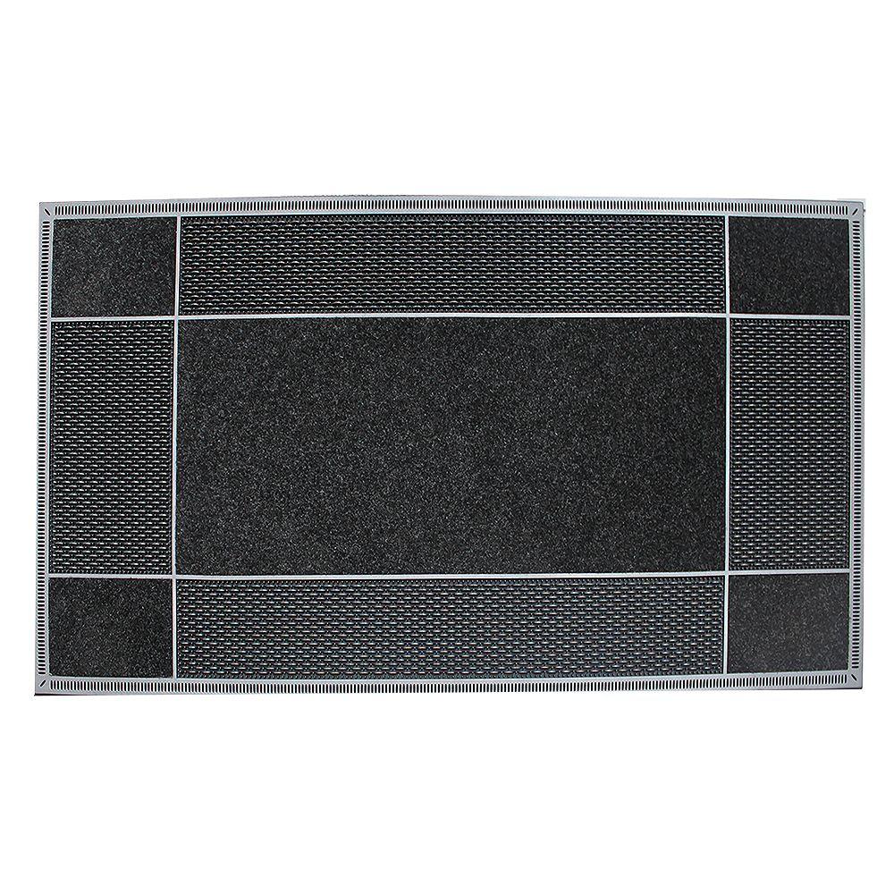Floor Choice Tapis d'accueil, 23 po x 46 po, Runway, noir