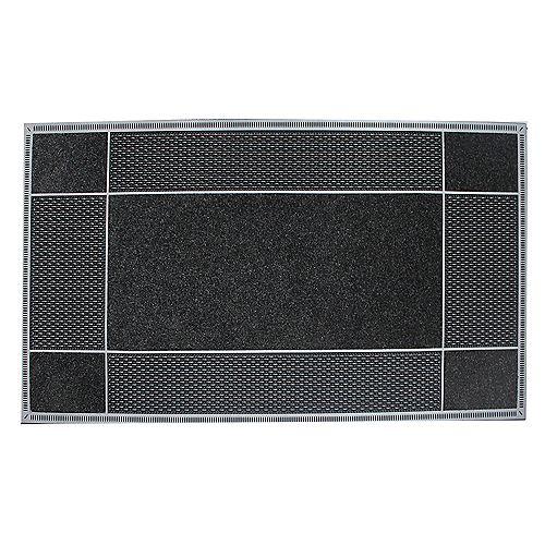 Floor Choice Runway Black 23-inch x 46-inch Door Mat