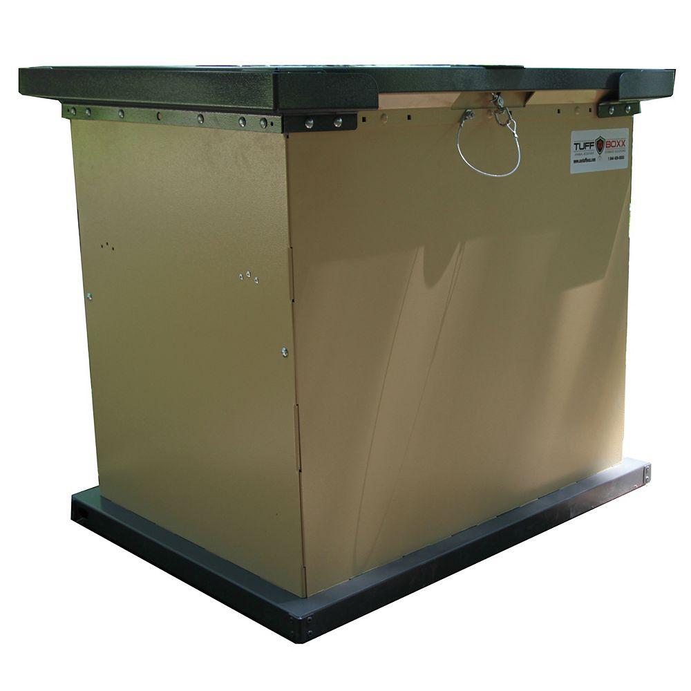 TuffBoxx BRUIN 100 Gal. Tan Galvanized Metal Animal Resistant Storage Container