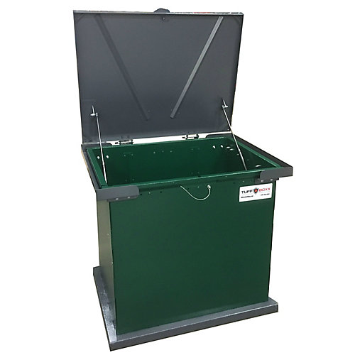 Bruin, Green/Graphite, the Industry Leader in Animal Resistant Garbage and Storage Containers