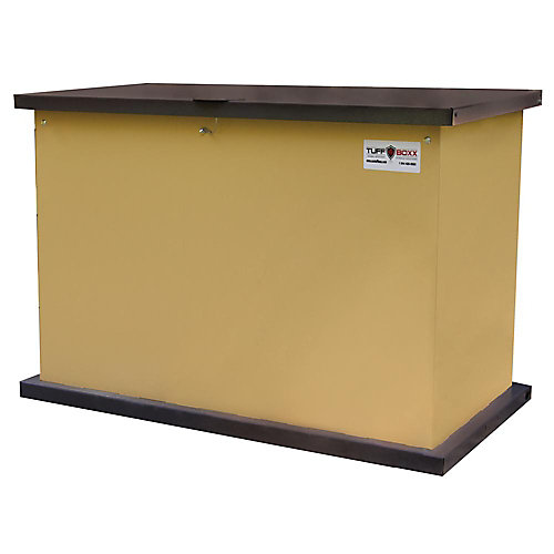 KIT, Tan/Graphite, the Industry Leader in Animal Resistant Garbage and Storage Containers