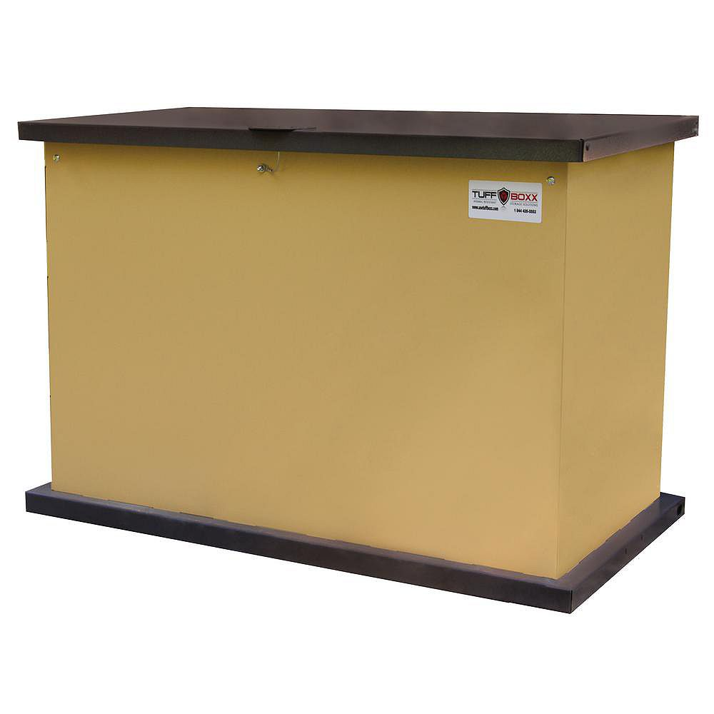 TuffBoxx KIT, Tan/Graphite, the Industry Leader in Animal Resistant Garbage and Storage Containers