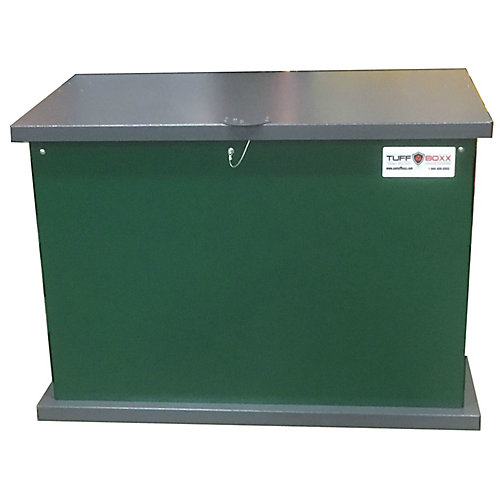 KIT 137 Gal.  Green/Charcoal Galvanized Steel Animal Resistant Storage Container