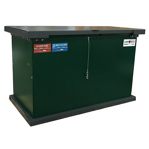 Conteneur à déchets et d'entreposage à l'épreuve des animaux Grizzly, vert/graphite