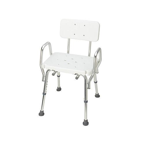 Chaise de bain solide DMI avec dossier