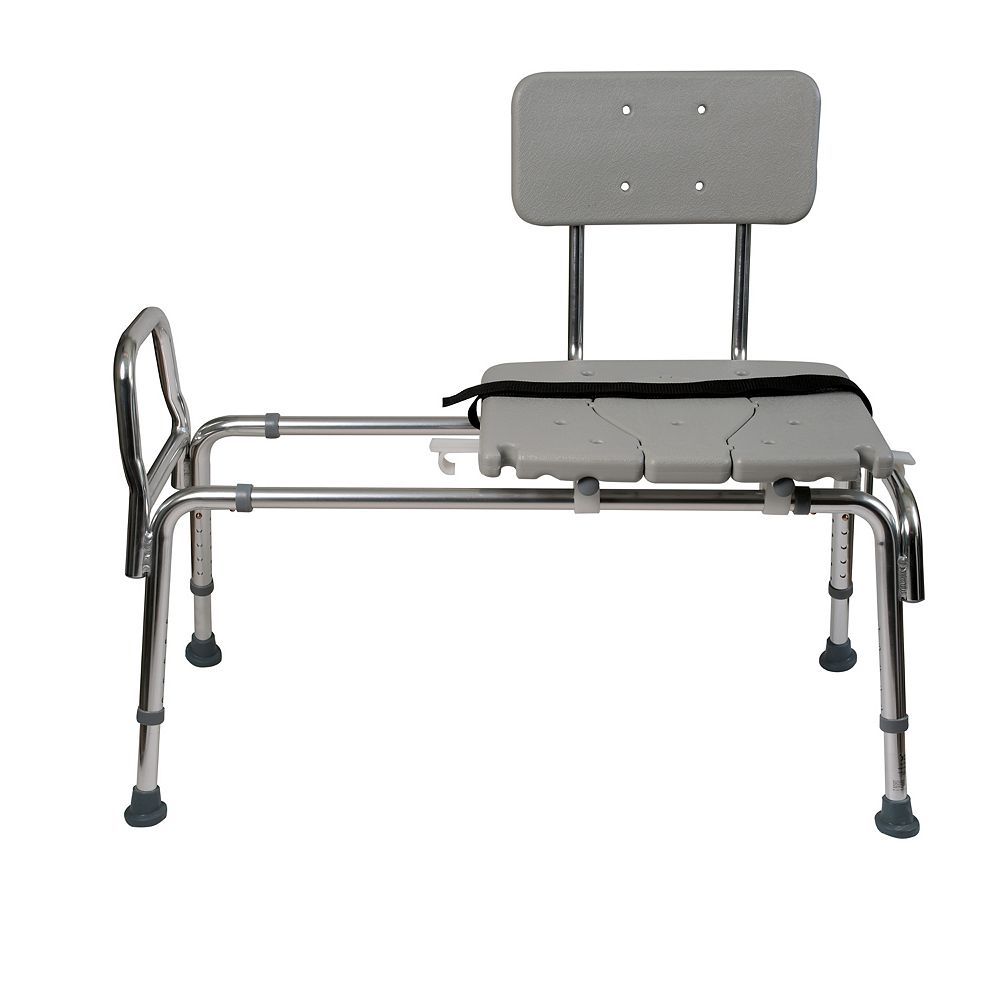 DMI Heavy-Duty Sliding Transfer Bench Shower Chair