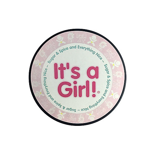 It's a Girl Hockey Puck In Cube