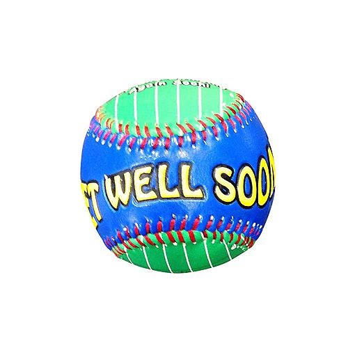 HDG inch Get Well inch  Baseball In Acrylic Cube