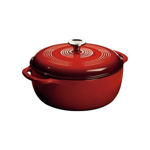Enamel Dutch Oven, 6Qt, Red