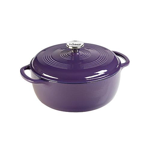 Enamel Dutch Oven, 6Qt, Purple