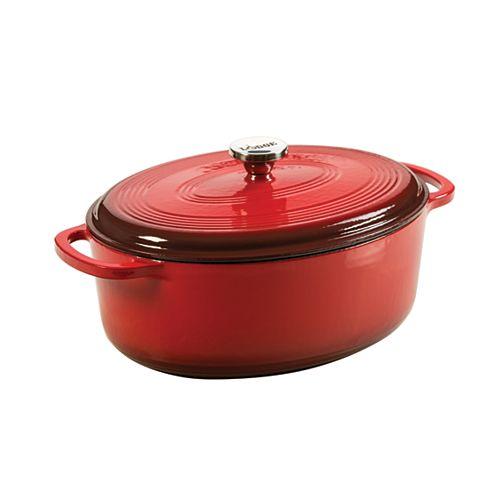 Enamel Dutch Oven, 7Qt, Red
