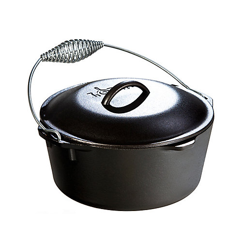 Double Dutch Oven 5 Quart With Spiral Handle