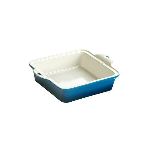 Plat de cuisson en grès Lodge 8 x 8 po, bleu