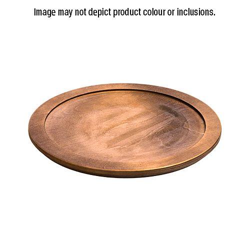 Sous-Plat  En Bois Teinture De Noix