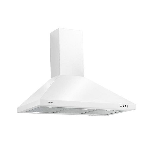 WPPW 436 inch Wall-mounted Convertible Range Hood in White
