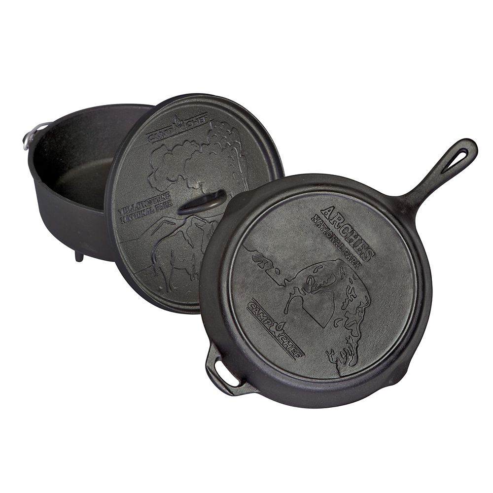 Camp Chef National Park Anniversary Cast Iron Cooking Set